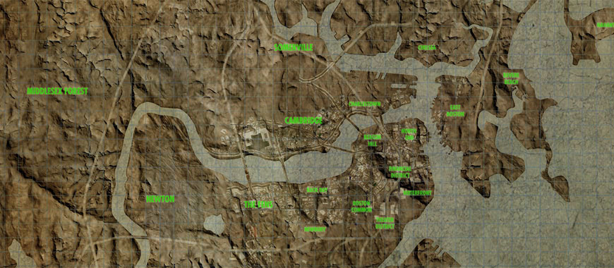 Fallout 4 Hi-Res Map, High Resolution Map